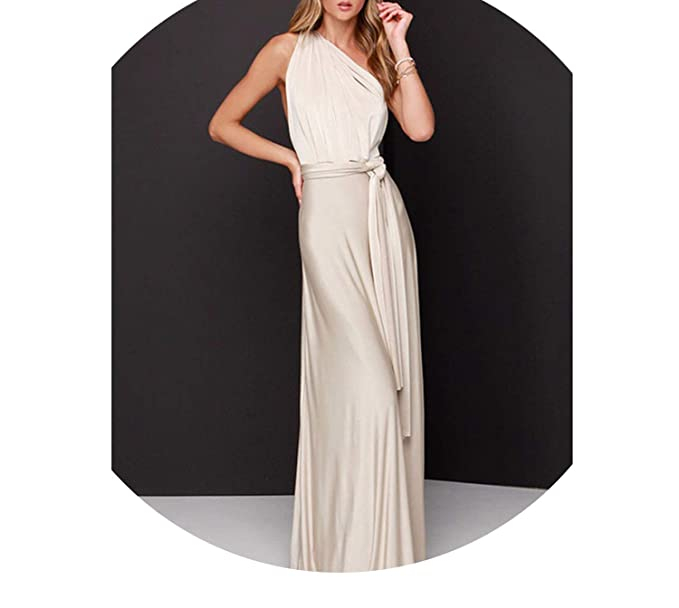 d7d5326479a Image Unavailable. Image not available for. Color  Dress Long Convertible  Casual Bandage Evening Prom Club Party Infinity Multiway ...