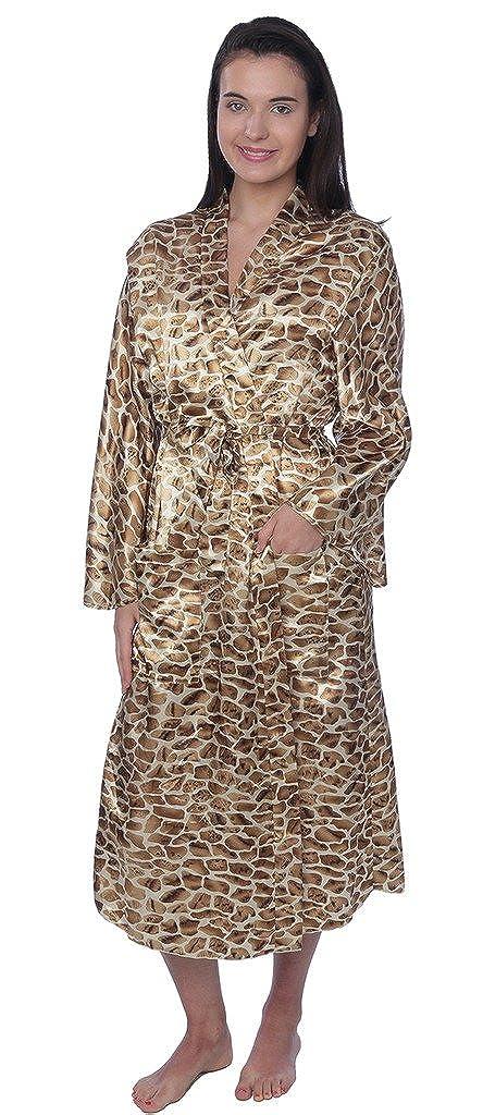 Beverly Rock Women's Plus Size Long Satin Robe Gown