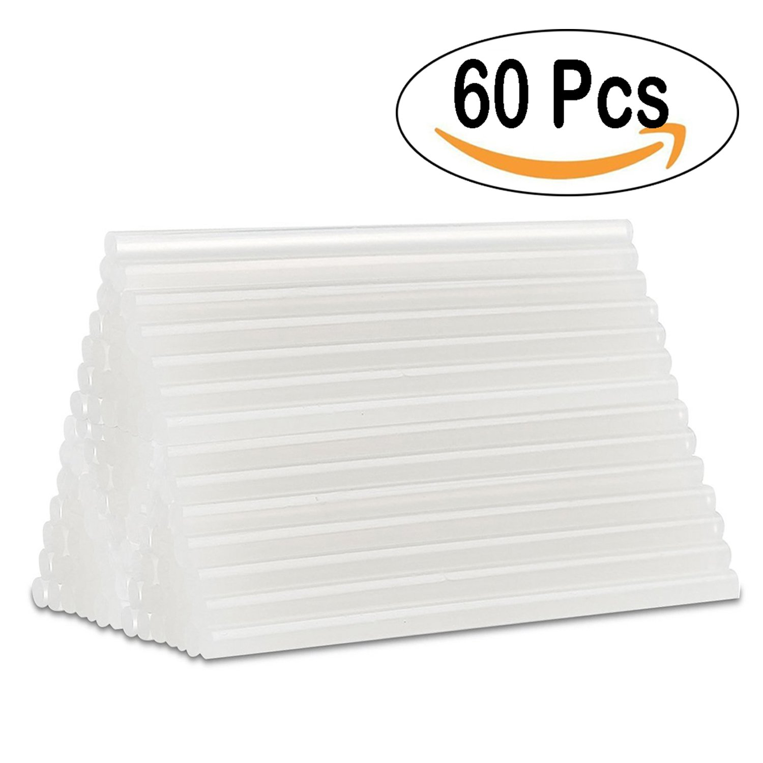 Aookey 60pcs Stick à Colle Thermofusible pour Mini Pistolet à Colle, Hobby Crafting, Travail du Bois, Plastique, Tissu, Céramique 100 mm x 7 mm (Transparent) Céramique 100 mm x 7 mm (Transparent)