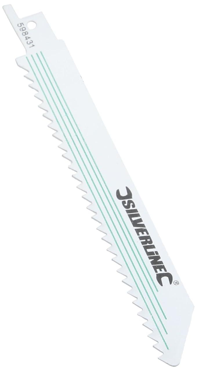 Silverline 598431 Ensemble 5 lames de scie sabre 6 TPI 150 mm