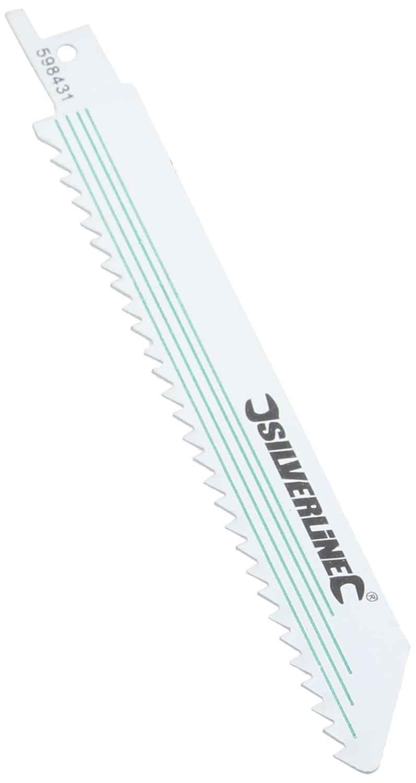 Silverline 598431 - Cuchillas para sierra sable 6 dpp, 5 pzas (150 mm) Toolstream
