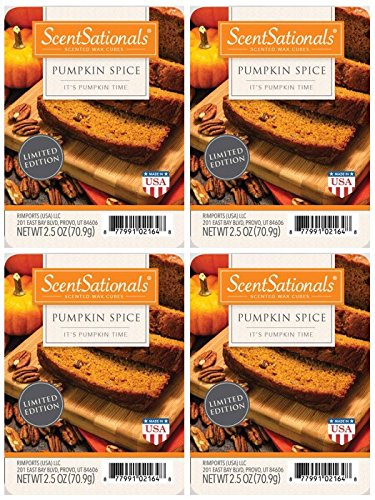 ScentSationals Pumpkin Spice Scented Wax Cubes - 4-Pack