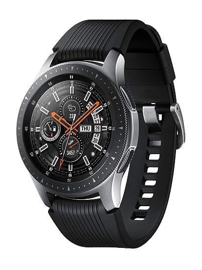 Samsung SM de r800nzsaato Galaxy Acero Unisex Caucho Acero Inoxidable 5 Bar: Amazon.es: Relojes