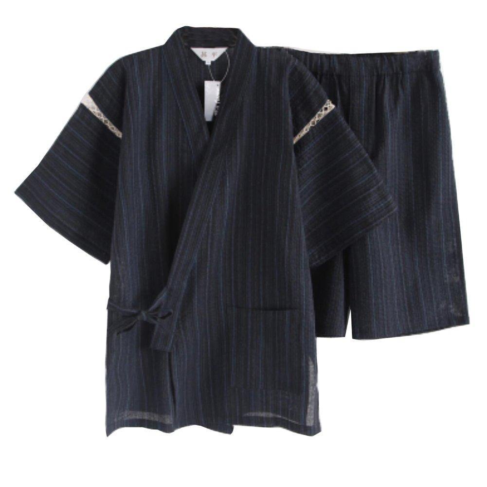 Fancy Pumpkin Completo da Uomo in Stile Giapponese Kimono Pigiama Suit C