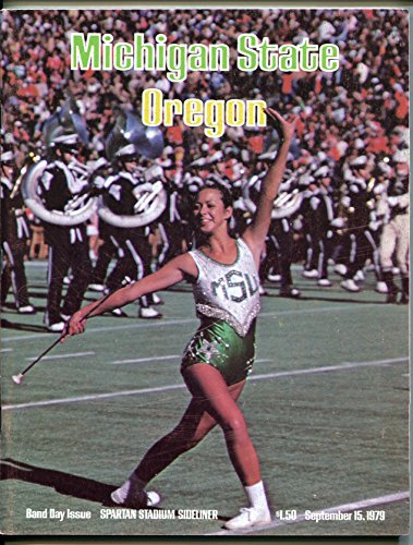 1979 Michigan State Spartans - Michigan State vs Oregon NCAA Football Game Program 9/15/1979-Spartans-VF