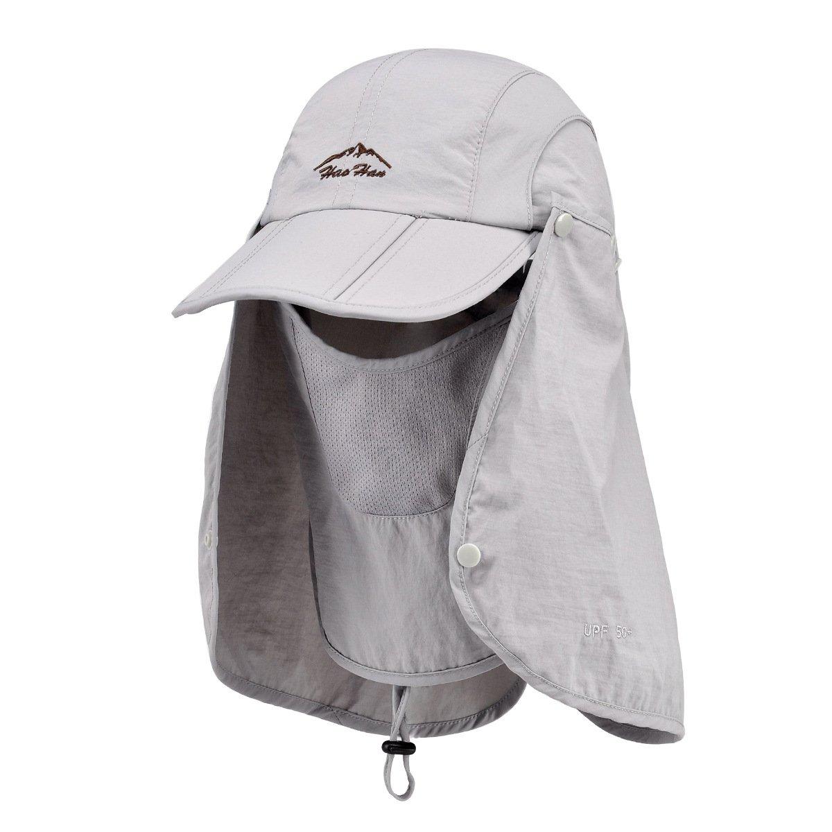 Belsen UPF 50+ Summer Hat Neck Protection Flap Cap (Light Grey) by Belsen