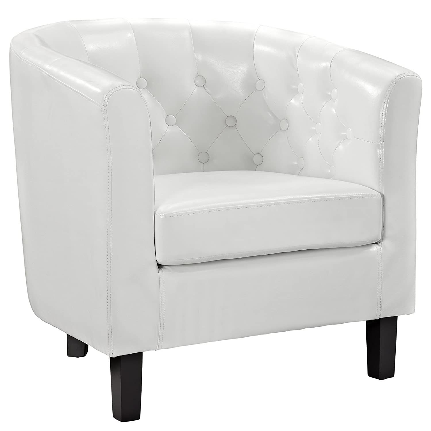 Awesome Amazon.com: Modway Prospect Upholstered Contemporary Modern Armchair In  White Faux Leather: Kitchen U0026 Dining