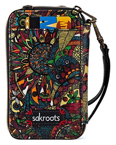 Sakroots Artist Circle Smartphone Wristlet Cross Body Bag, Rainbow Spirit Desert