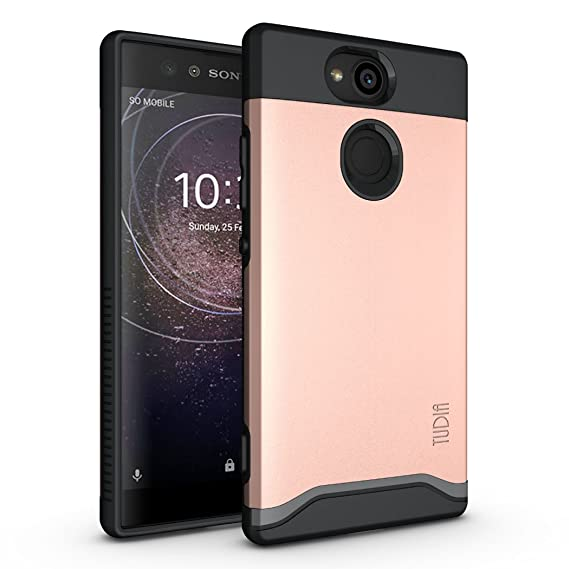 best loved 3da74 f657a Sony Xperia XA2 Case, TUDIA Slim-Fit Heavy Duty [Merge] Extreme  Protection/Rugged but Slim Dual Layer Case for Sony Xperia XA2 (Rose Gold)