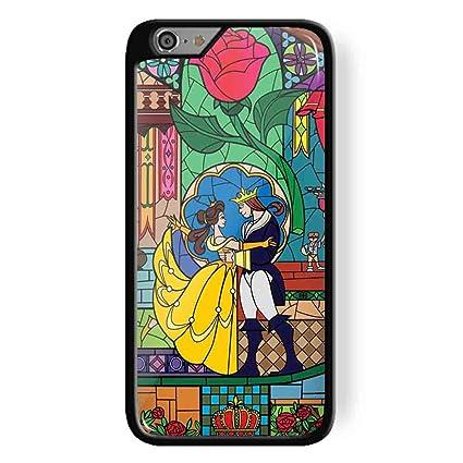 9a50dff33be Disney Princesa Belle - la Bella y la Bestia de vidriera con para iPhone 6/