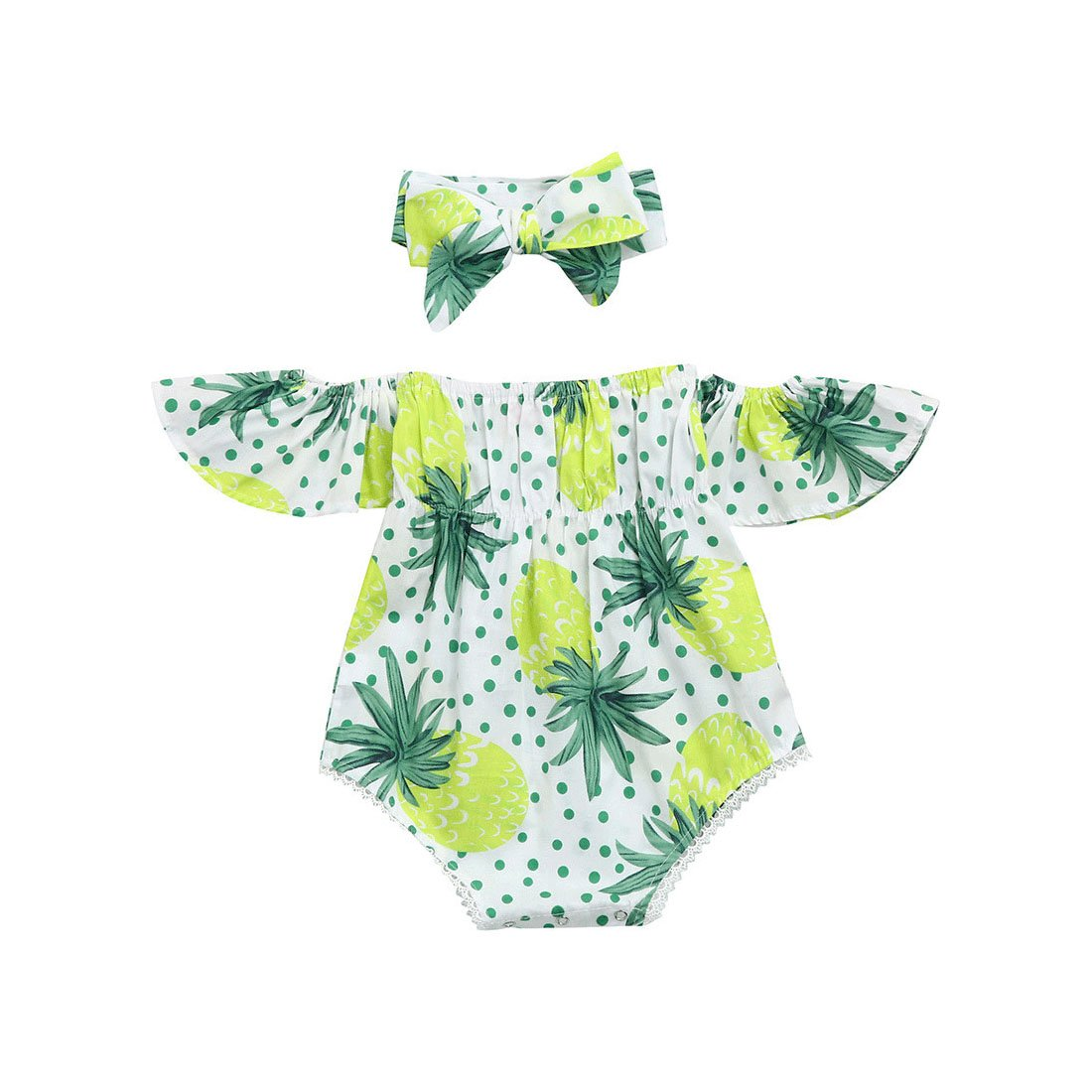 7b07a7a5c Molyveva Baby Girls Pineapple Print Ruffles Romper Summer Clothes ...