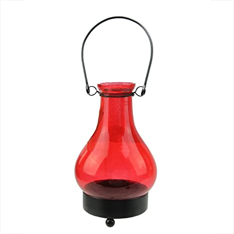 Amazon Com 6 5 Transparent Red India Glass Bottle Tea Light Candle