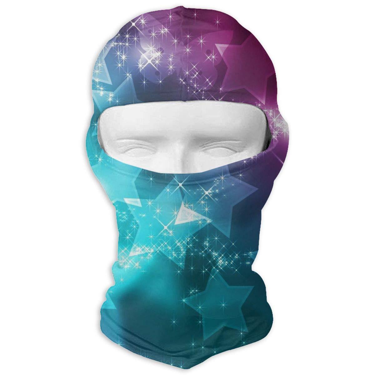 Wind-Resistant Face Mask LaoJi Colorful Stars Winter Ski Mask Balaclava Hood