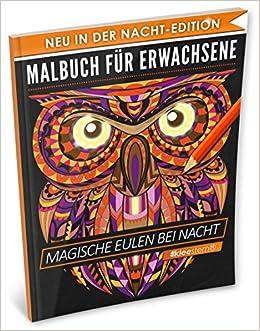 Malbuch Für Erwachsene Magische Eulen A4 Nacht Edition 40
