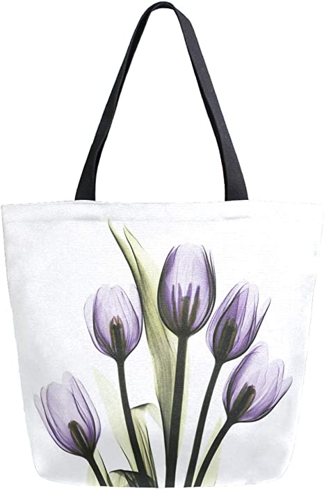 Colourful Tulips Foldable Bag With a Sleeve