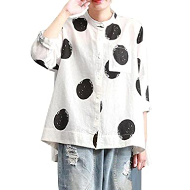 0ebd281bdcb MEEYA Women's Plus Size Blouse, Long Sleeve Button Pocket Casual Shirt  Loose Tops at Amazon Women's Clothing store: