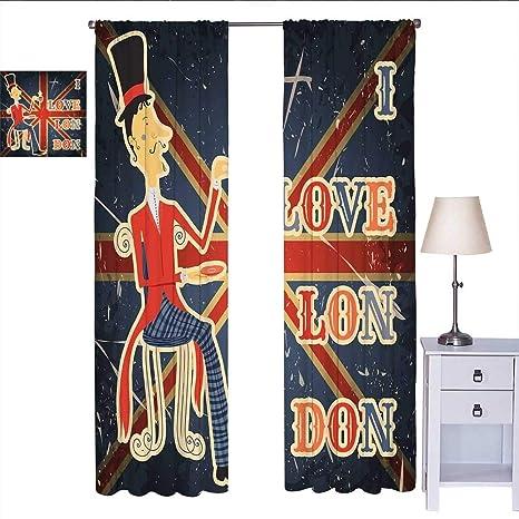 Martindecor Piccola Tenda Per Finestra Con Scritta I Love London