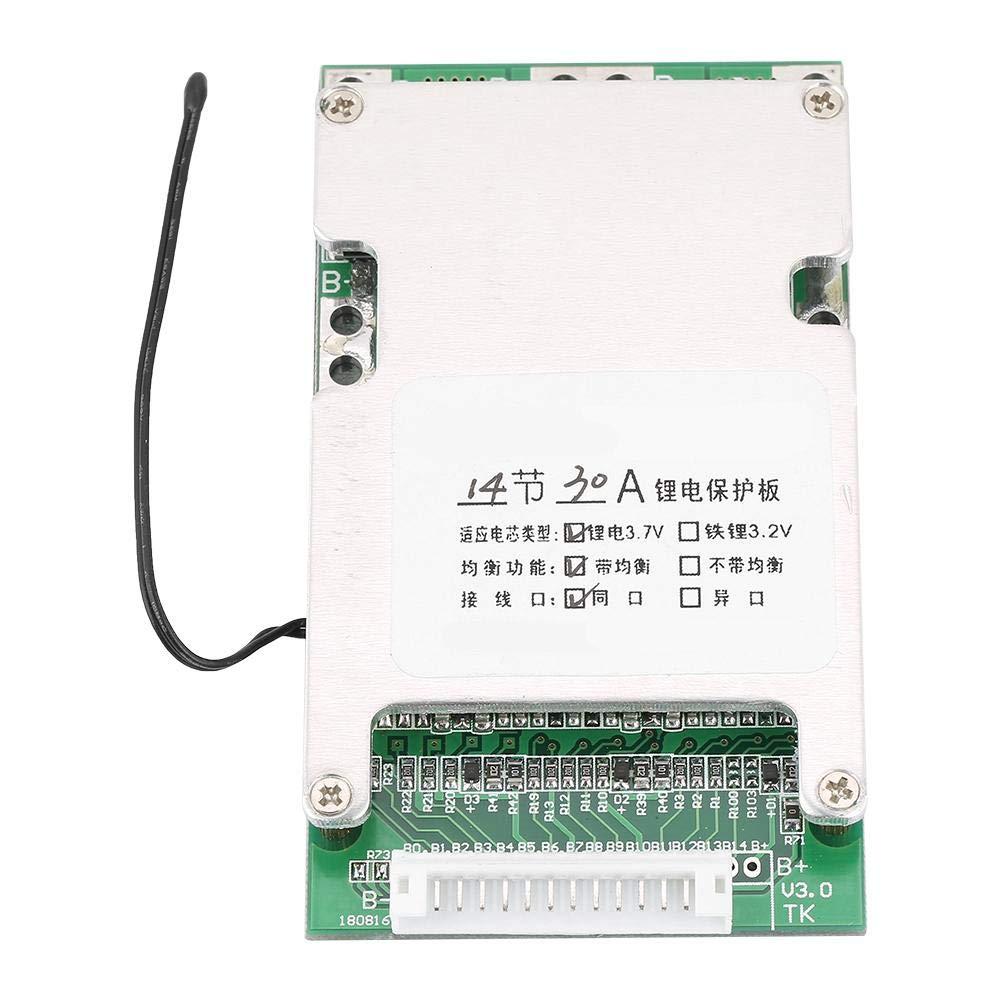 Carte de Protection de Batterie au Lithium, Keenso Panneau de Protection de Batterie Surcharge de Carte de Circuit Imprimé de 14S 50V 30A BMS