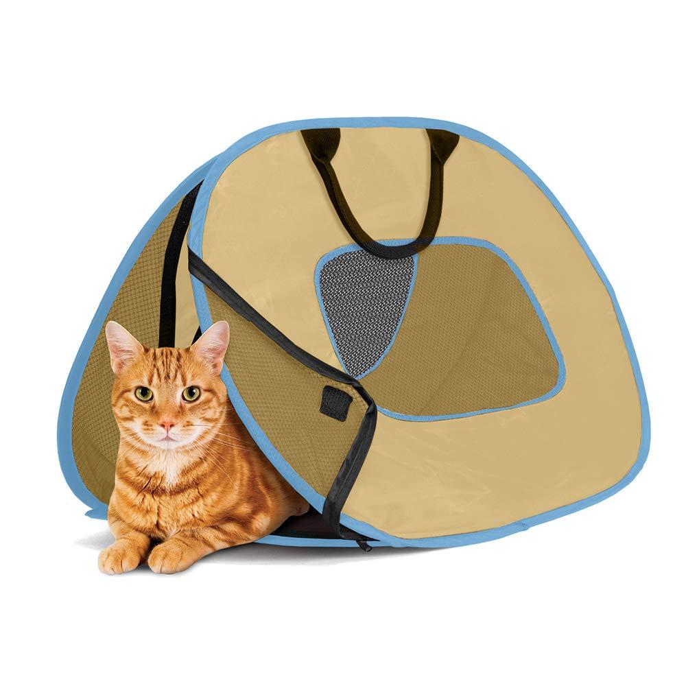 SportPet Designs Cat Carrier with Zipper Lock- Foldable Travel Cat Carrier by SportPet Designs