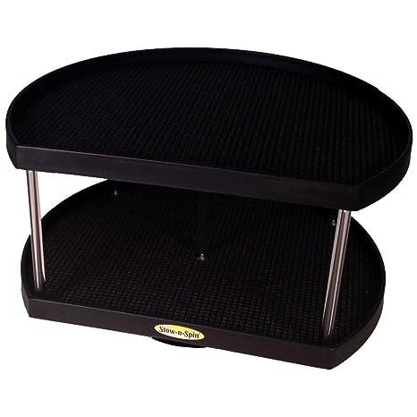 Superieur Stow N Spin Kitchen Cabinet Storage Organizer 2 Tier Turntable Black D