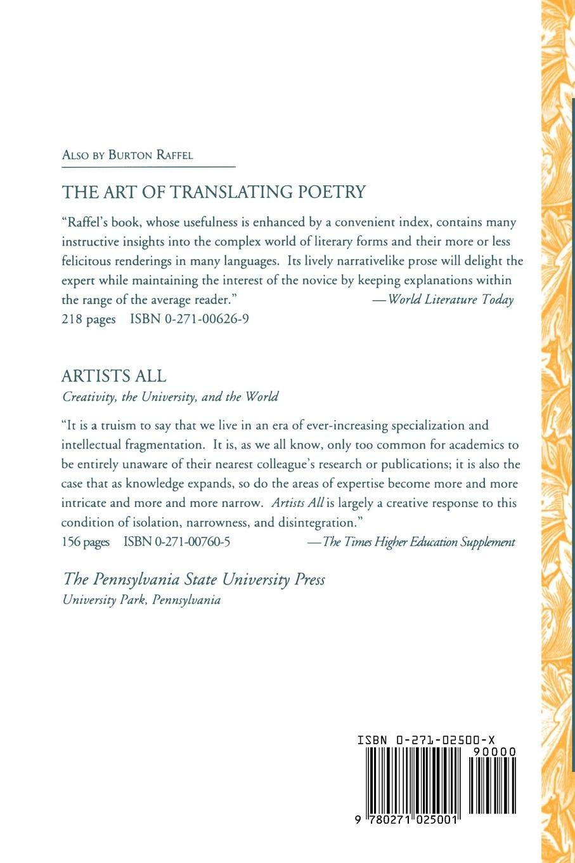 The Art of Translating Prose: Amazon.es: Burton Raffel: Libros en idiomas  extranjeros