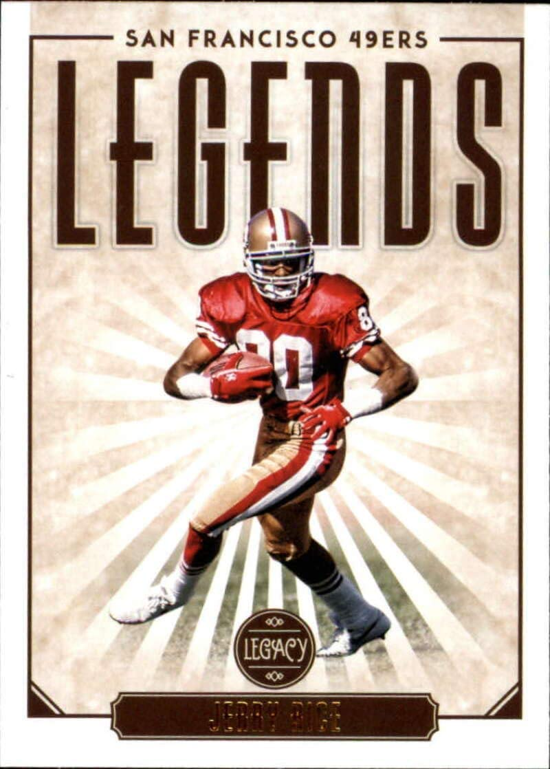 Amazon Com 2020 Panini Legacy 124 Jerry Rice Legends San Francisco 49ers Nfl Football Trading Card Collectibles Fine Art