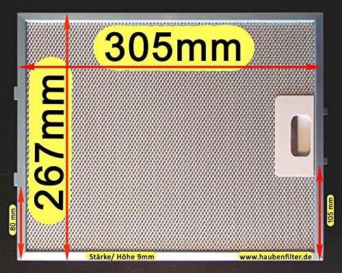 Filtro de grasa de metal 305 x 267 para campana extractora, el original con la mejor calidad solo en