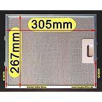 Metall-Fettfilter 305 x 267 für Dunstabzugshaube, Bessere Qualität, 10-lg.