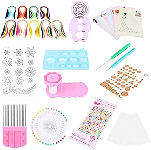 Quilling Tools kit 8 PCS Quilling Paper Supplies for DIY Hand Craft Decoration