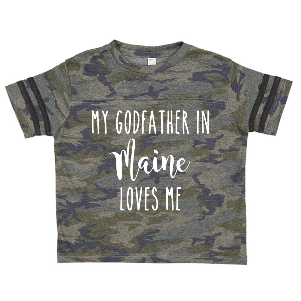 My Godfather in Maine Loves Me Toddler//Kids Sporty T-Shirt