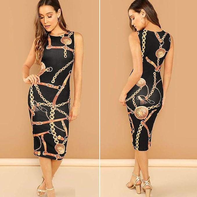 QIANDUOO EULAGPRE Women Sleeveless Patchwork PU Leather Bodycon Dress Party Pencil Dresses