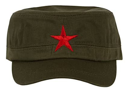 New Mao Army Cadet Adjustable Hat W China Red Star - Olive  Amazon ... 1e627e6127b9