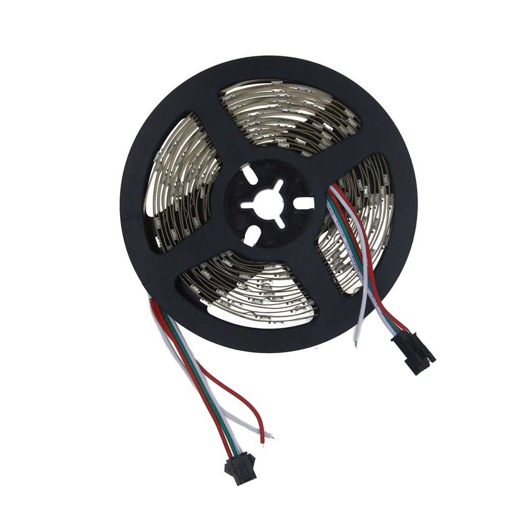 Aclorol WS2812B LED Strip Light 30 Pixels/M Individually Addressable  Programmable Dream Color 16 4ft 150 5050 RGB SMD Pixels White PCB 5V