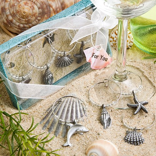Unique Beach Themed Wine Charms]()