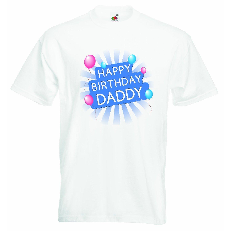 /bianco/ /3/anni Happy Birthday Daddys/ /2/ /ragazzi t-shirt personalizzata tee ragazzi vestiti maglietta con stampa divertente citazione/