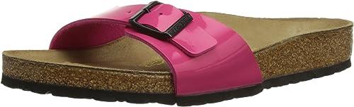 Birkenstock Pink 33 Gr Lack Madrid Sandalen Schwarz Sohle