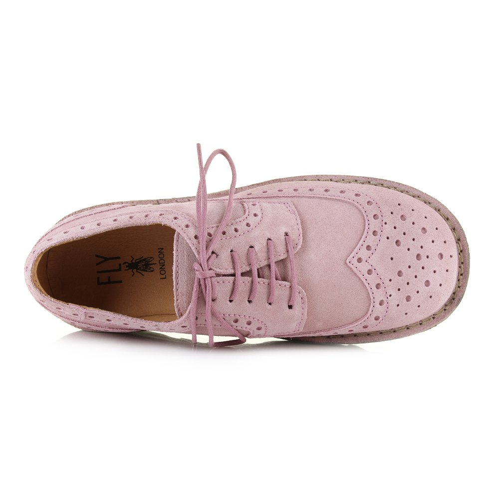 79b2ee569f1 Fly London Womens Jane Suede Pink Brogue Fashion Wedge Heel Shoes Size 6   Amazon.co.uk  Shoes   Bags