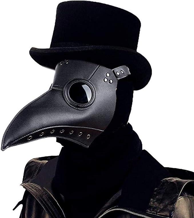 ALIXIN-Medieval Peste Doctor Máscaras de Pájaro,Heavy Metal Rock ...