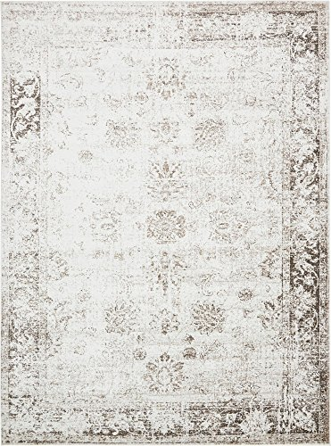 Unique Loom 3134035 Sofia Collection Traditional Vintage Beige Area Rug, 9' x 12' Rectangle,