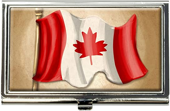 Canadian Flag Of Canada PU Leather office Business Card Holder PU Leather office Business Card Holder