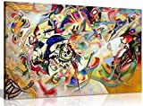 Composition Vii By Wassily Kandinsky Canvas Wall Art Picture Print decor ready to hang in your home, office or even bedroom. Panther Print Canvas prints are of high quality and come framed on a 18MM Pine wood lightweight frame with the canvas stretch...