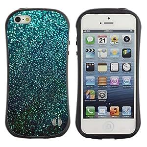 """Hypernova Slim Fit Dual Barniz Protector Caso Case Funda Para Apple iPhone SE / iPhone 5 / iPhone 5S [Teal nieve del invierno Estrellas Resumen""""]"""