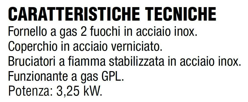 Gaskocher Flüssiggas (Propan) (Propan) (Propan) mit 2 Kochfeldern – Rahmen aus Stahl mit Deckel lackiert anthrazit + Kit Regler für Gasflaschen-Italien 890e5f