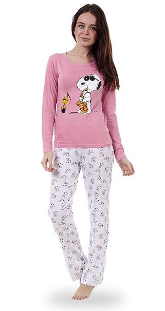 cd4210b4 Snoopy - Conjunto de pijama Snoopy de manga larga para mujer Pijama de  Mickey o de