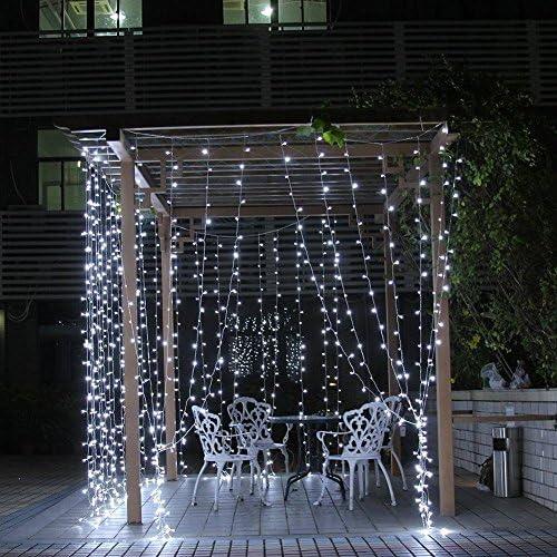 300 luces LED de telón de fondo con mando a distancia, 9 modos, funciona con pilas, luces de pared súper brillantes, de 9,8 x 9,8 pies: Amazon.es: Iluminación