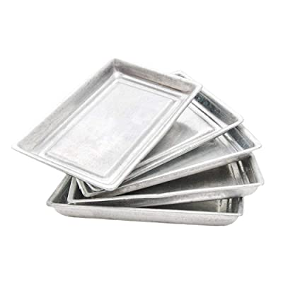 Odoria 1:12 Miniature 5pcs Toaster Oven Pan Tray Dollhouse Kitchen Accessories: Toys & Games
