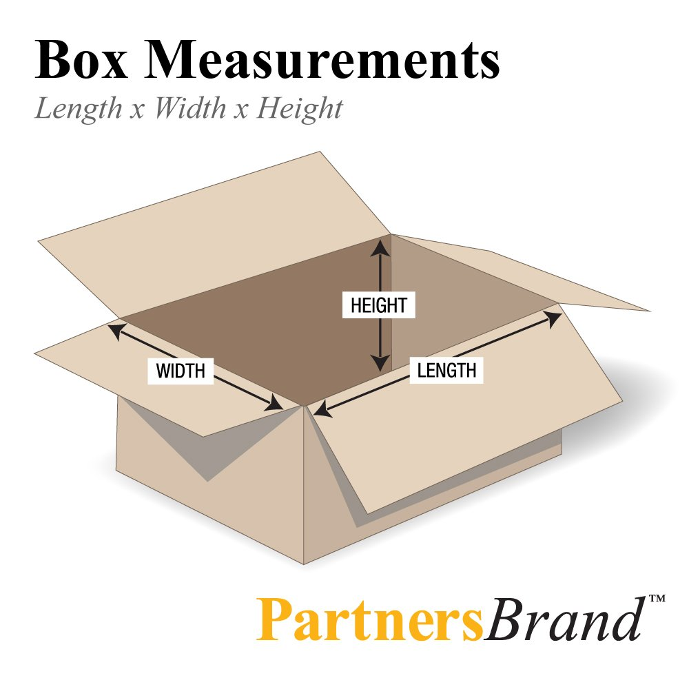 Pack of 25 Partners Brand P161212DPB Deluxe Packing Boxes Kraft 16L x 12W x 12H
