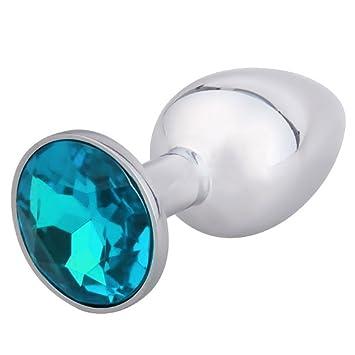 Catmaster 1 Pcs Anal Butt Plug 3d Diamond Acrylic Plated Jewelry Bed Sex Medium