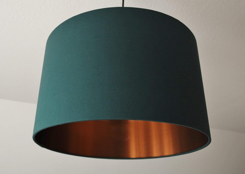 LampenschirmDunkelgrün-Kupfer D 30cm. Farbe und Größe auf Anfrage