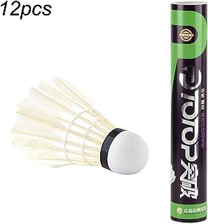 Ballylelly 12pcs / Set Plume d'oie Professionnelle Badminton Set compétition Volant de Jeu pour Les Sports de Plein air intérieur Accessoire de MBSS1215A3956